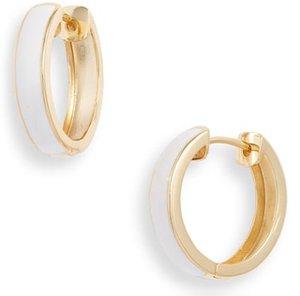 Argento Vivo enamel plated hoop earrings | 40plusstyle.com