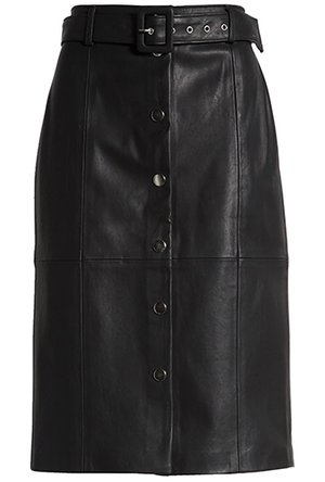 BLANKNYC faux leather pencil skirt | 40plusstyle.cm
