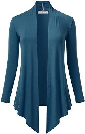 FLORIA open front drape cardigan | 40plusstyle.com