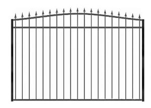Забор из профильной трубы №7