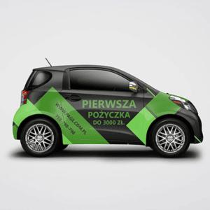 Projekt graficzny oklejanie samochodu