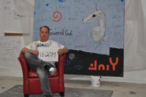 Bob Landstrom in studio with Last Tamarind Birds