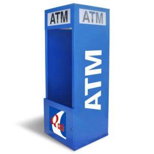 Mobile Standard ATM Kiosk Single Graphic Panel
