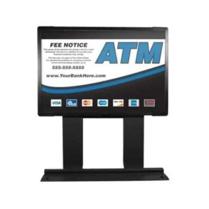 Custom ColorBrilliance Genmega / Hantle / Tranax Mini Bright ATM Graphic Topper Insert (15 x 10)