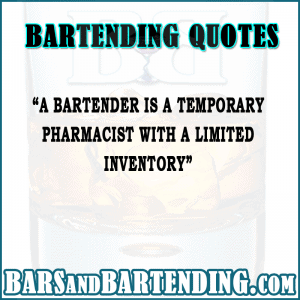 bartending quotes temporary pharmacist