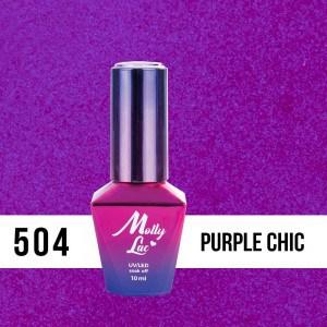 fioletowy błyszczący lakier do paznokci