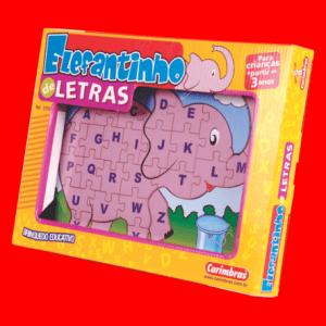 Elefantinho de Letras Carimbras - caixa