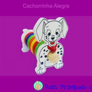 cachorrinha alegre carimbras bom brinquedo