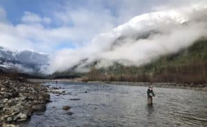 Fly fishing the Squamish River