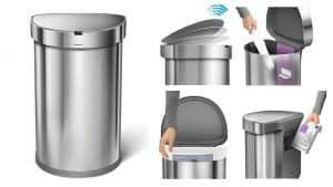 simplehuman Semi-Round Sensor Trash Can