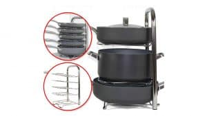 Height Adjustable Pot & Pan Rack