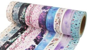Washi Tape: Japanese Washi Tape for DIY, decor, crafts, and packaging