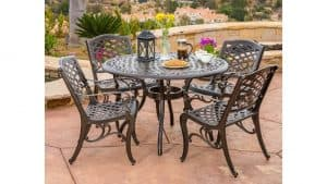 5 Piece Cast Aluminum Outdoor Dining Set