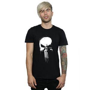 Marvel-hombre-Punisher-Spray-Camiseta-camisetas-de-calaveras