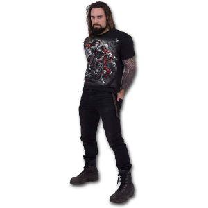 Spiral-DOTD-Bikers-Camiseta-Negro-camisetas-de-calaveras