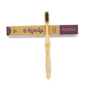 Cepillo de dientes de bambú de dureza suave