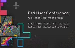 Event announcement Esri User Conference 2019 San Diego - FR