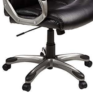 Offering a versatile range of motion, the executive chair swivels 360 degrees for multi-tasking convenience