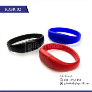 FDBR02 Flashdisk Karet Custom Gelang