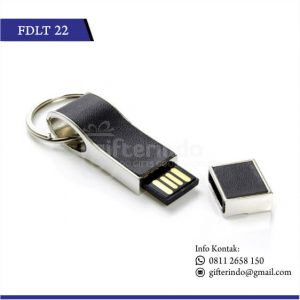 FDLT22 Flashdisk Kulit Metal Gantungan Kunci