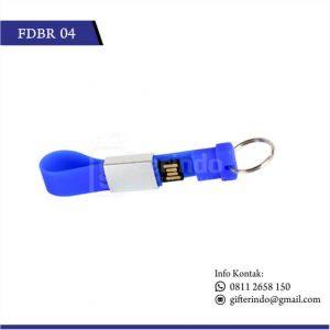Flashdisk Karet Gantungan Kunci Biru