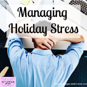 How do you relieve the stress during the holidays? Don't let the pressure build tackle it now!