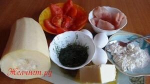 ингредиенты для запеканки из кабачка и куриного филе