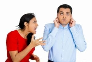Woman screaming at husband. How to deal with high conflict people?