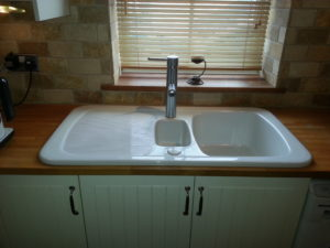 Sink & tap, tiles upgrade