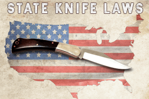 Amerian flag with knife