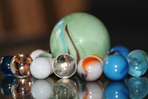 Marble Sphere Weight for Monkey Fist Knot