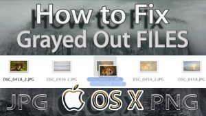 How to Fix Greyed Out Files and Folders on Mac