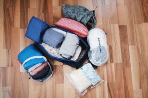 packing cubes to organize your clothes