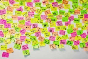 Post its as reminder