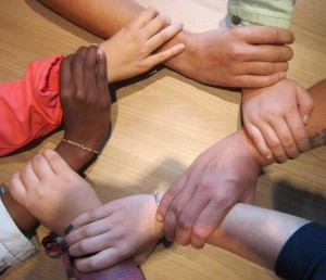 Circle of hands group therapy