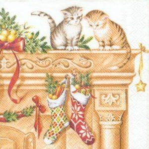 2 petits chats et Noël