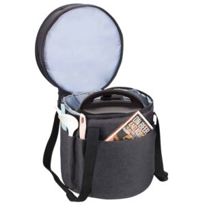 Black carrying case for Instant Pot