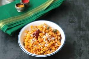 Kadalai Paruppu Sundal (Chana Dal Sundal Recipe)