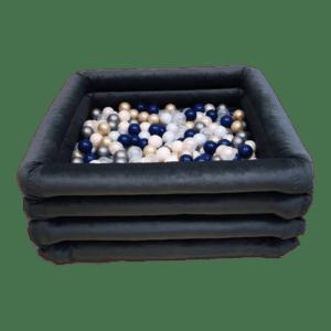 Bällebad Comfort+ Quadratish Grau