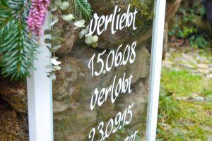 Schilder zur Hochzeit auf Glas_0413