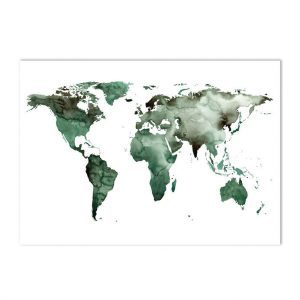 Wereldkaart decoratie - Aquarel wereldkaart poster - Wereldkaart poster(s) kopen - Mooie posters / kaarten voor aan de muur - Kaarten als decoratie - grote poster wereldkaart - aquarel kaarten - waterverf kaarten - mooie kaarten - stoere kaarten - waterverf poster