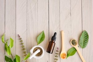 Various herbs like aloevera, curry leaves, and essential oils help to reduce hair loss and promote growth.