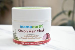 Mamaearth onion hair mask for hair fall control review
