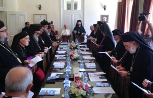 Heads of Eastern churches meet at the summer seat of the Maronite Church in Diman, Thursday, Aug. 7, 2014. (The Daily Star/Antoine Amrieh)