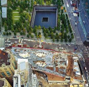 EarthCam photo of St Nicholas Greek Orthodox National Shrine at the World Trade Center