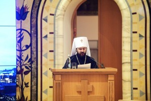 Metropolitan Hilarion, the chairman of Moscow Patriarchate's Department for External Church Relations