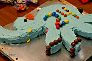 Elephant Cake on a cookie sheet