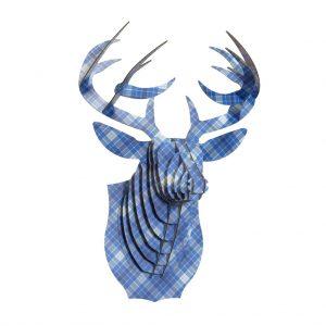 Ciervo Franela Azul
