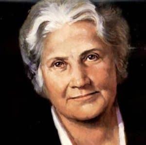 Maria Montessori portrait