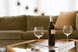 how to clean red wine off the sofa